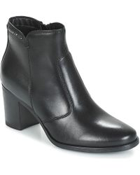 Tamaris Lodi Low Ankle Boots - Black