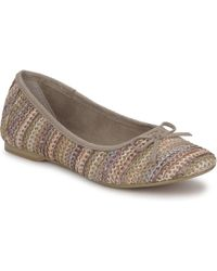 Tamaris - Stripe Ballerina Shoes (pumps / Ballerinas) - Lyst