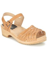 Swedish Hasbeens - Braided Low Sandals - Lyst