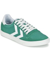 Hummel - Slimmer Stadil Waxed Canvas Lo Trainers - Lyst