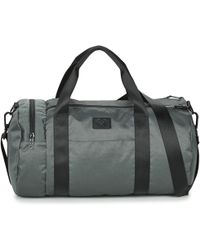Fred Perry - Textured Weave Barrel Bag Men's Sports Bag In Grey - Lyst