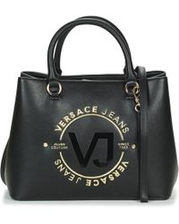 Versace Jeans White Patent Eco Leather Tote in White - Lyst 28f6f9db0a