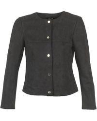 Vila - Vihale Leather Jacket - Lyst