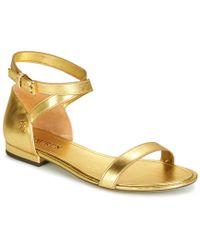 4fa3ddc44ff0 Lauren by Ralph Lauren Lauren Ralph Lauren Davison Ankle Strap Flat ...