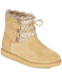 Roxy - Tara J Boot Tan Mid Boots - Lyst