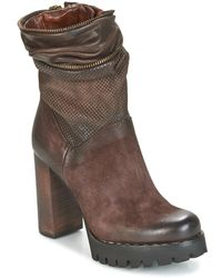 A.S.98 - Bloc Zip Low Ankle Boots - Lyst