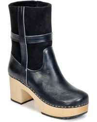 Swedish Hasbeens - Hippie Low Low Ankle Boots - Lyst