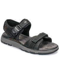 09fbd2333a70 Clarks Sandals Un Trek Part 26131 Men s Sandals In Black in Black ...