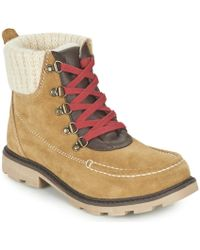 Roxy - Creston J Boot Tan Mid Boots - Lyst