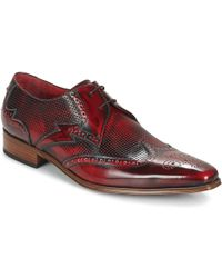 Jeffery West - Punch Appron Gibson Men's Casual Shoes In Red - Lyst