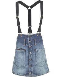 G-Star RAW - Dadin Tailored Braces A-line Skirt - Lyst
