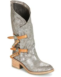 a56879e93e3507 A.S.98 - Winnie Women s High Boots In Silver - Lyst