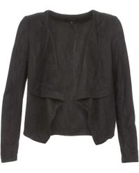 Vila - Visimply Leather Jacket - Lyst