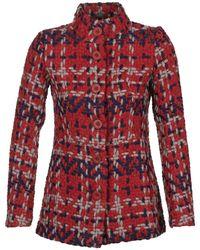 Desigual - Pourto Women's Coat In Red - Lyst