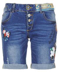 Desigual - Rana Women's Shorts In Blue - Lyst