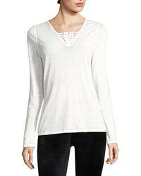 Nanette Lepore - Caged V-neck T-shirt - Lyst