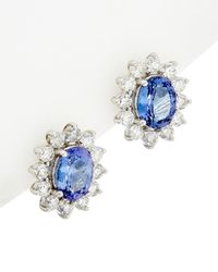 Effy - Fine Jewelry 14k 5.65 Ct. Tw. Diamond & Tanzanite Earrings - Lyst
