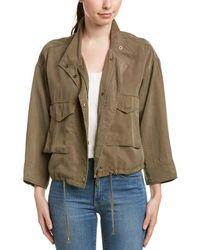 Splendid - Cropped Military Jacket - Lyst
