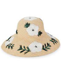 bd34089229f Lyst - Gottex Women s White   Black Stargazer Hat in White