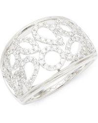 Effy - Diamond & 14k White Gold Statement Ring - Lyst