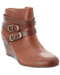 Söfft - Oakes Leather Wedge Ankle Boot - Lyst