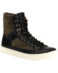 Frye - Walker Infantry Leather Sneaker - Lyst