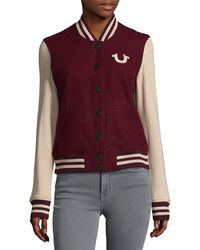 True Religion - Varsity Jacket - Lyst