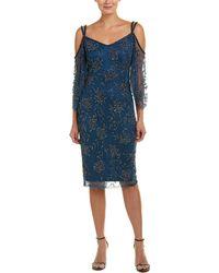 THEIA - Sheath Dress - Lyst