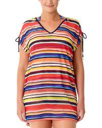 Anne Cole - Plus Tunnel Mesh T-shirt - Lyst