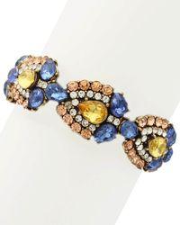 Sparkling Sage - 14k Plated Crystal & Resin Collage Stretch Bracelet - Lyst