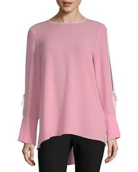 Vince Camuto - Split-sleeve High-low Top - Lyst