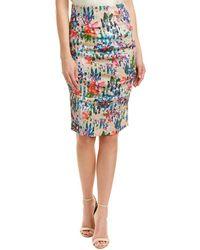 Nicole Miller - Artelier Linen-blend Pencil Skirt - Lyst