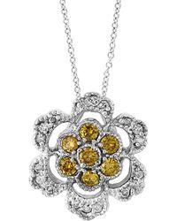 Effy - Fine Jewellery 14k 0.42 Ct. Tw. Diamond Necklace - Lyst