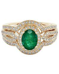 Effy - Fine Jewellery 14k 1.64 Ct. Tw. Diamond & Gemstone Ring - Lyst
