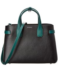 Burberry - The Medium Banner In Two-tone Leather - Lyst