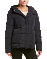 Maje - Quilted Coat - Lyst