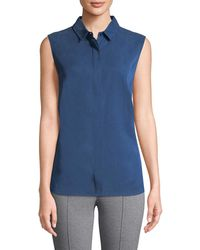 Punto - Perforated Shirt Tank - Lyst