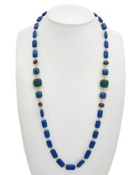 Carolee - True Blue 12k Plated 32in Collar Necklace - Lyst