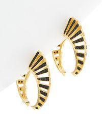 Noir Jewelry - 14k Cz Cage Earrings - Lyst