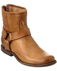 Frye - Women's Phillip Harness Leather Bootie - Lyst