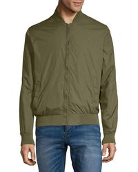 French Connection - Baseball Tech Rib-trimmed Bomber Jacket - Lyst