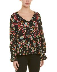 Laundry by Shelli Segal - Floral V-neck Top - Lyst