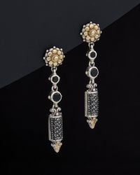 Konstantino - Asteri 18k & Silver 2.39 Ct. Tw. Diamond & Black Onyx Drop Earrings - Lyst