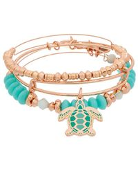 ALEX AND ANI - Crystal Set Of 3 Bangles - Lyst