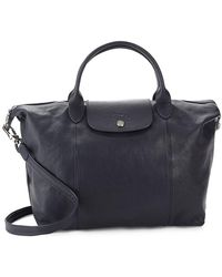 Longchamp - Le Pliage Cuir Medium Leather Top Handle Tote - Lyst