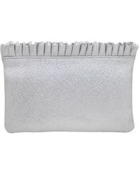 La Regale - Satin Pouch Clutch - Lyst