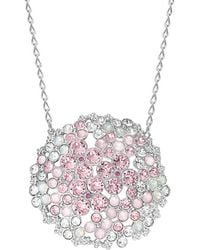 Swarovski - Crystal Cherie Plated Stainless Steel Necklace - Lyst