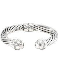 David Yurman - David Yurman Cable 18k & Silver 0.48 Ct. Tw. Diamond Cuff Bracelet - Lyst