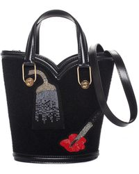 Olympia Le-Tan - Black Patches Mini Beatrix Shoulder Bag, Nwt - Lyst