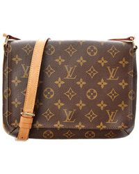 Lyst - Louis Vuitton Monogram Canvas Musette Tango in Brown 63ae9fc08b5e3
